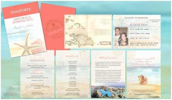 Destination Wedding Invitations Passport Destination Wedding Travel Passport Invitations Coral Aqua