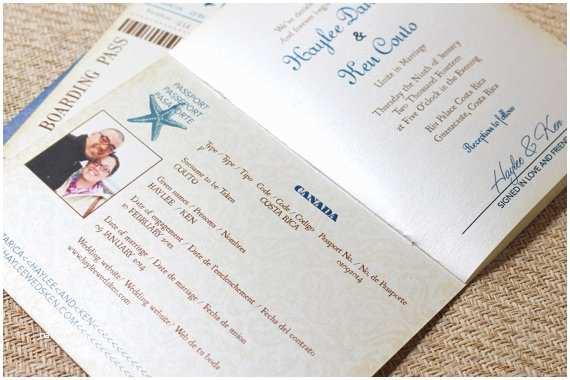 Destination Wedding Invitations Passport Ideas for Destination Wedding Invitations