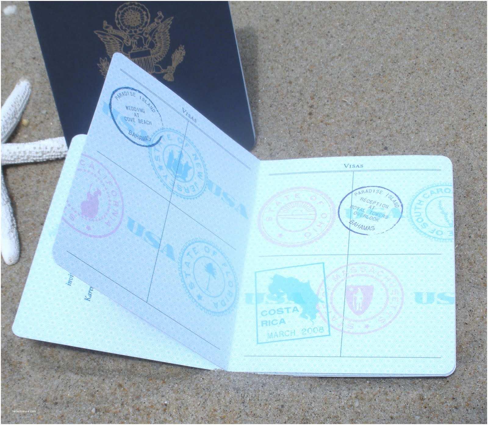 Destination Wedding Invitations Passport Invitations Ink social Design Studio Passport to