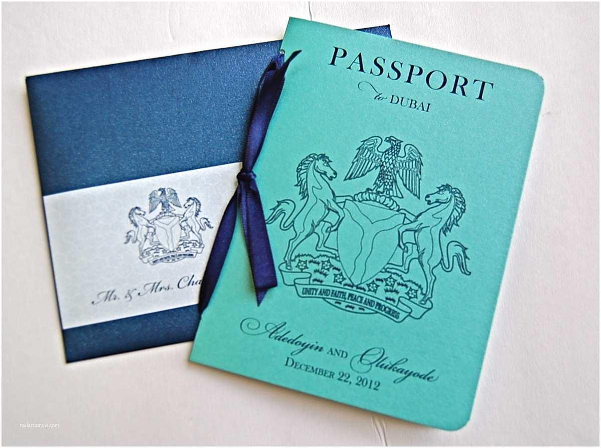 Destination Wedding Invitations Passport Nigerian Wedding Invitations