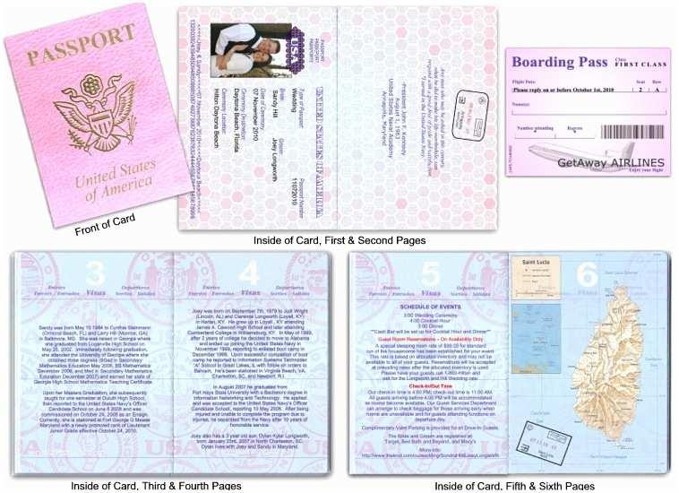 Destination Wedding Invitations Passport Passport 12 Destination Wedding Pink Custom Passport