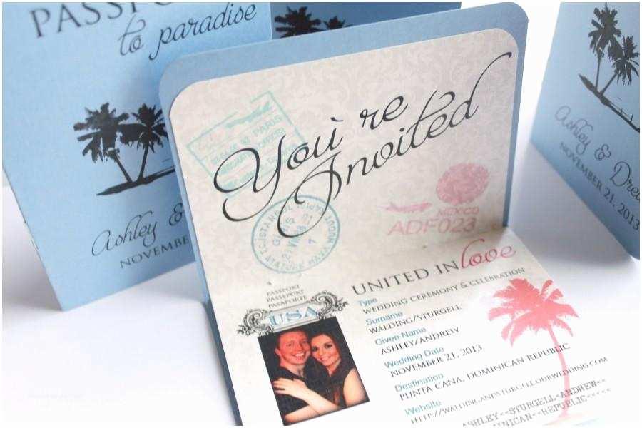 Destination Wedding Invitations Passport Passport Boarding Pass Wedding Invitation for Destination