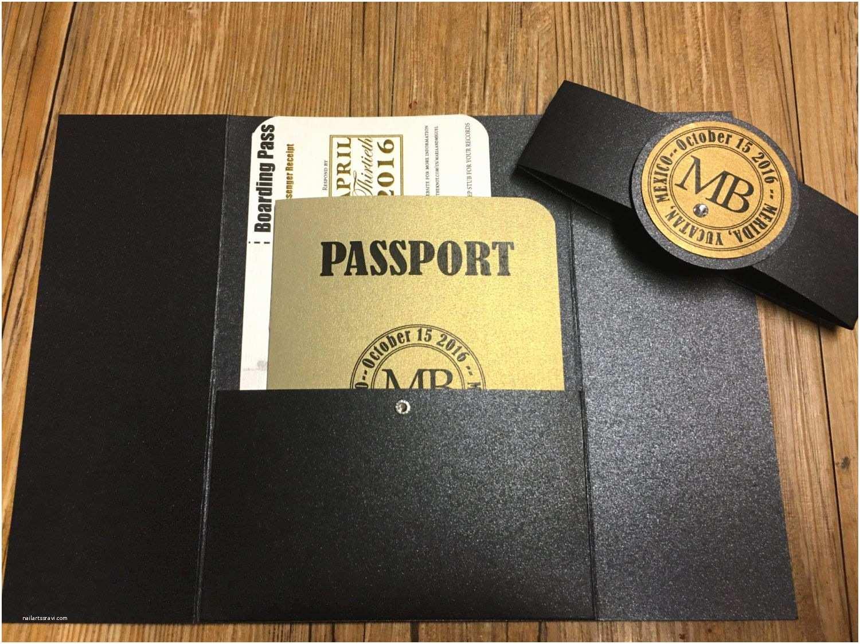 Destination Wedding Invitations Passport Passport to Mexico Invitation Passport Invitation