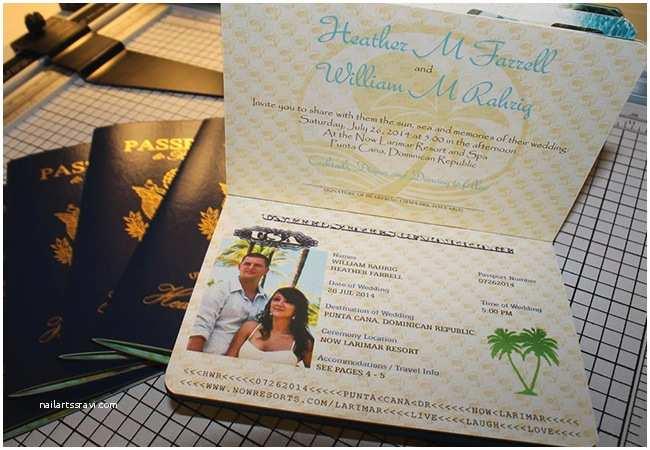 Destination Wedding Invitations Passport Vanessa S Destination Wedding Invitations