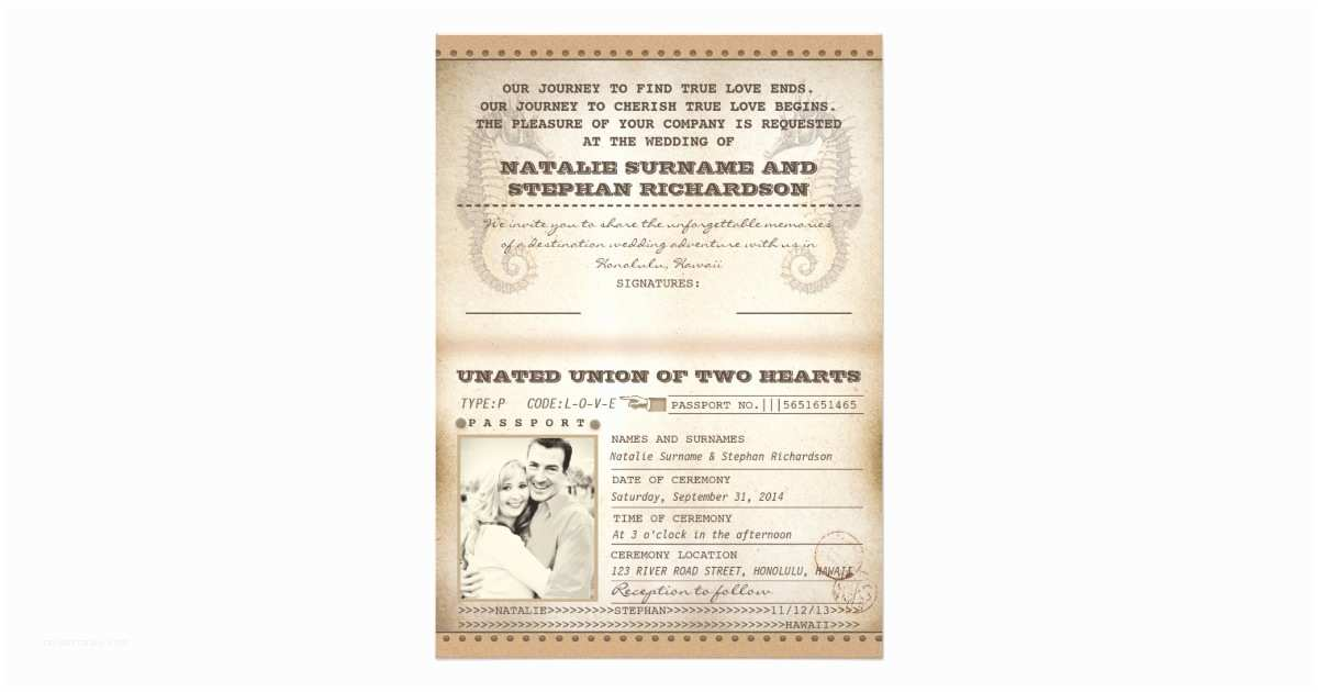 Destination Wedding Invitations Passport Vintage Destination Wedding Passports Invites