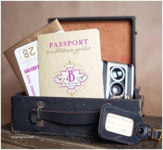 Destination Wedding Invitations Passport Vintage Monogram Passport Destination Wedding by Beyonddesign