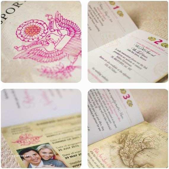 Destination Wedding Invitations Passport Vintage Passport Destination Wedding Invitation Mexico