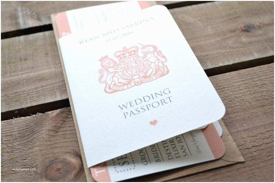 Destination Wedding Invitations Passport Wedding Invitation Personalised Destination Wedding