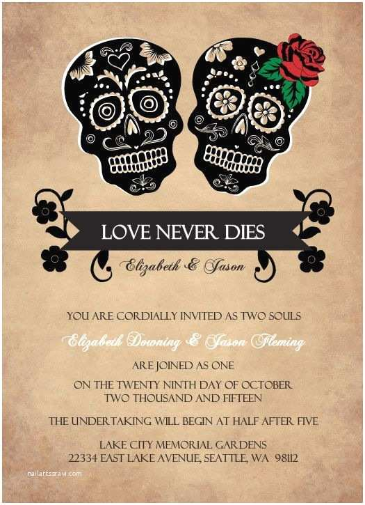 Dia De Los Muertos Wedding Invitations 12 Spooky Wedding Invites Creative Market Blog