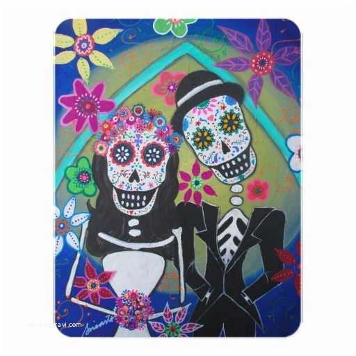 Dia De Los Muertos Wedding Invitations Dia De Los Muertos Wedding 4 25x5 5 Paper Invitation Card