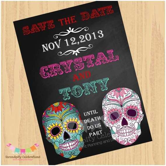 Dia De Los Muertos Wedding Invitations Diy Digital Sugar Skull Invitation Dia De Los Muertos Save