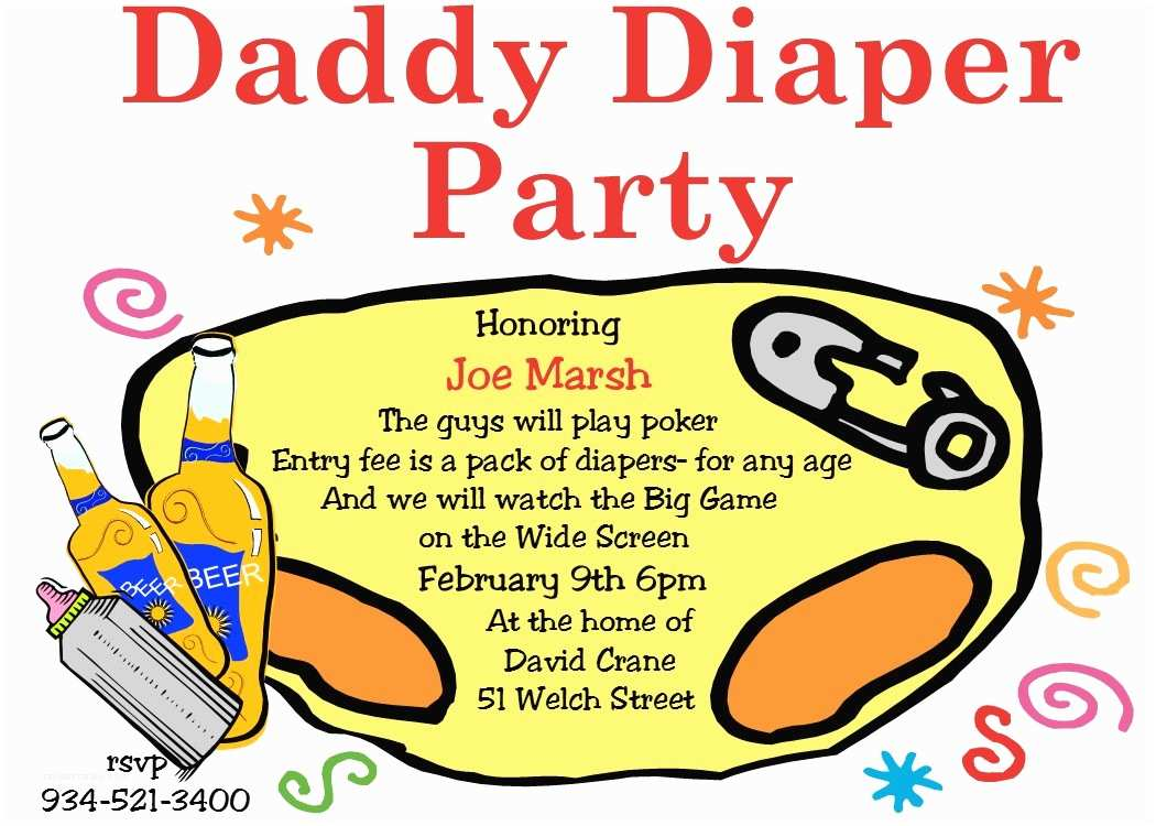 Diaper Party Invitation Wording Beer and Diaper Party Invitations – Gangcraft