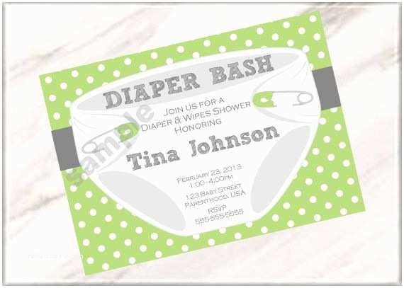 Diaper Party Invitation Wording Diaper Bash Party Baby Shower or Sprinkle Invitations