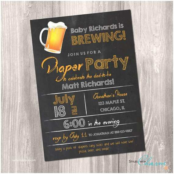 Diaper Party Invitation Wording Diaper Party Invitation Beer and Diaper Party Invitation