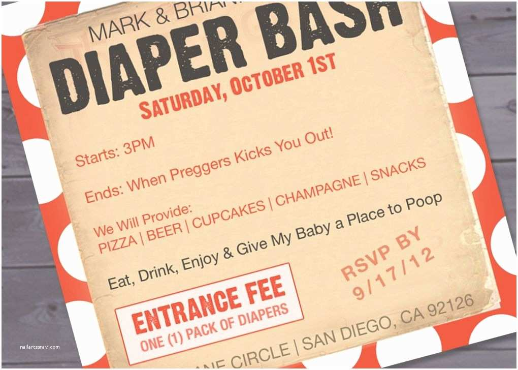 Diaper Party Invitation Wording Free Printable Diaper Party