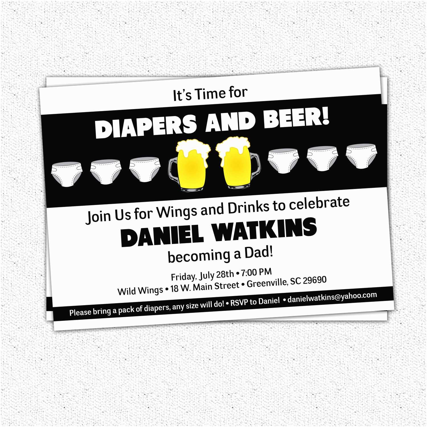 Diaper Party Invitations Chuggies Beer and Diaper Party Invitations Babies for
