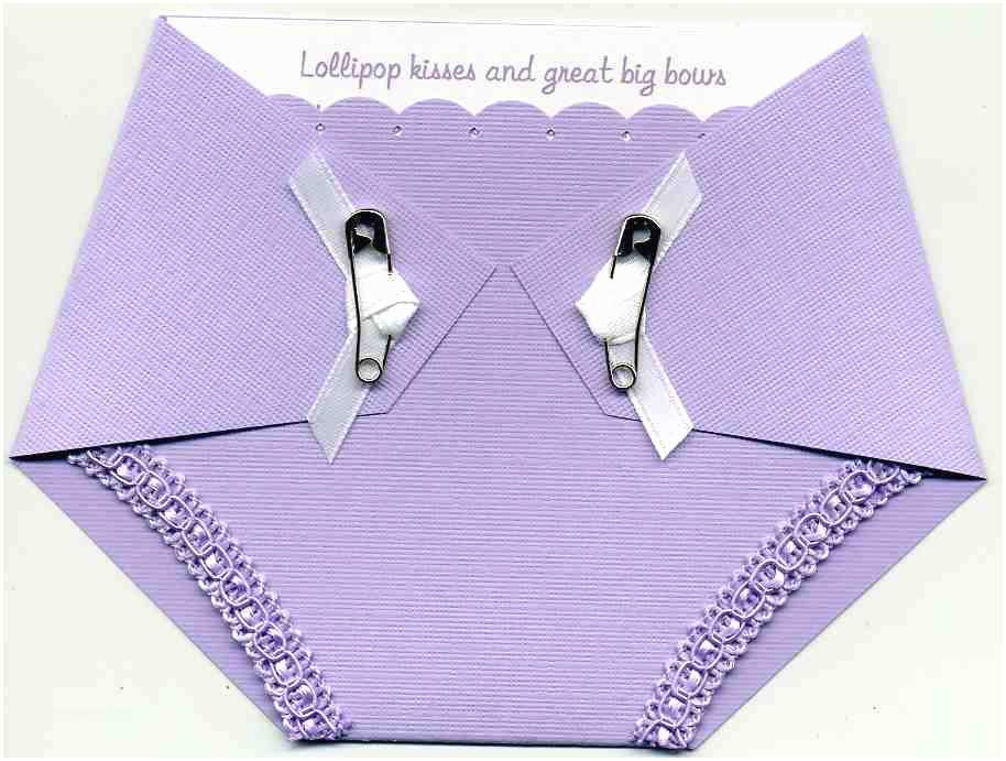 Diaper Shaped Baby Shower Invitations Baby Shower Invitation Diaper Shaped In Purple by