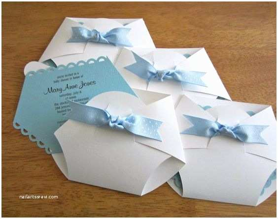 Diaper Shaped Baby Shower Invitations Kraamfeest Uitnodigingen Borrel Uitnodigingen and Luiers