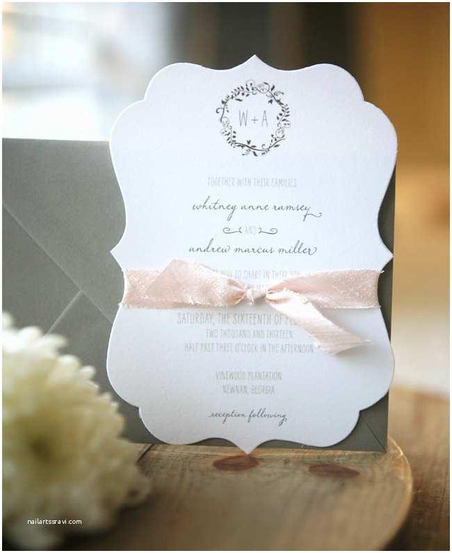 Die Cut Wedding Invitations Custom Wedding Invitation Suite Plantation Die Cut