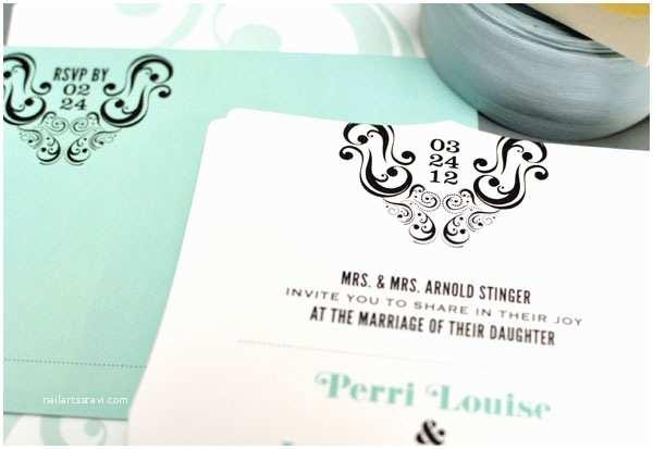Die Cut Wedding Invitations Die Cut Wedding Invitations by Smitten On Paper