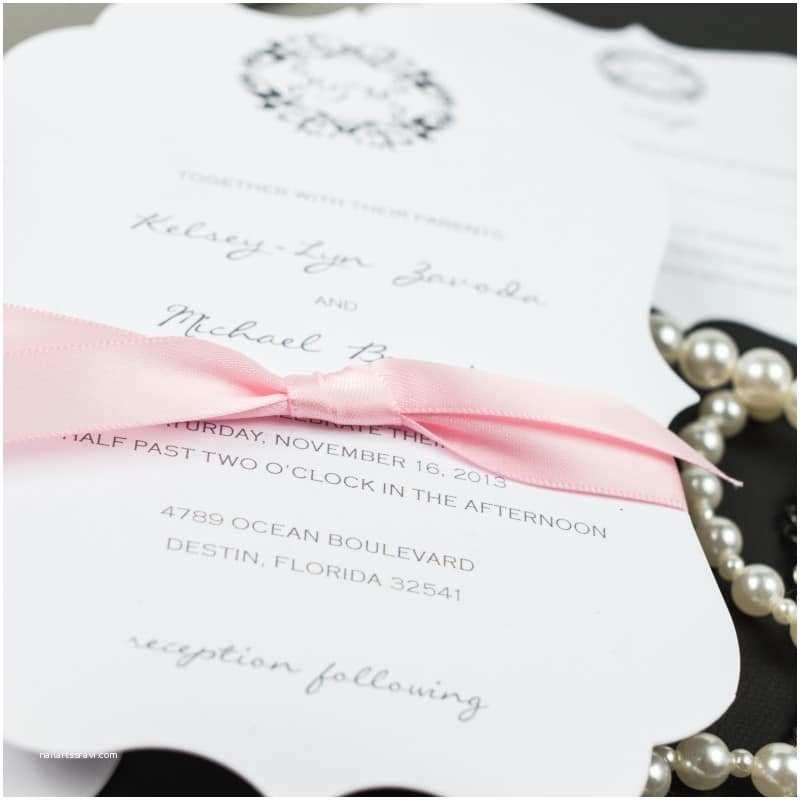 Die Cut Wedding Invitations Die Cut Wedding Invitations too Chic & Little Shab