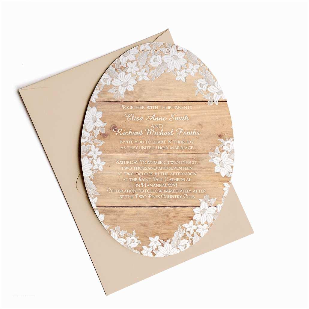 Die Cut Wedding Invitations Die Cut Wedding Invitations – Washington – Oval