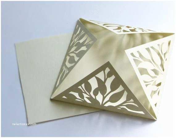 Die Cut Wedding Invitations Wedding Invitation Elegant Cream Cut Card with Blank