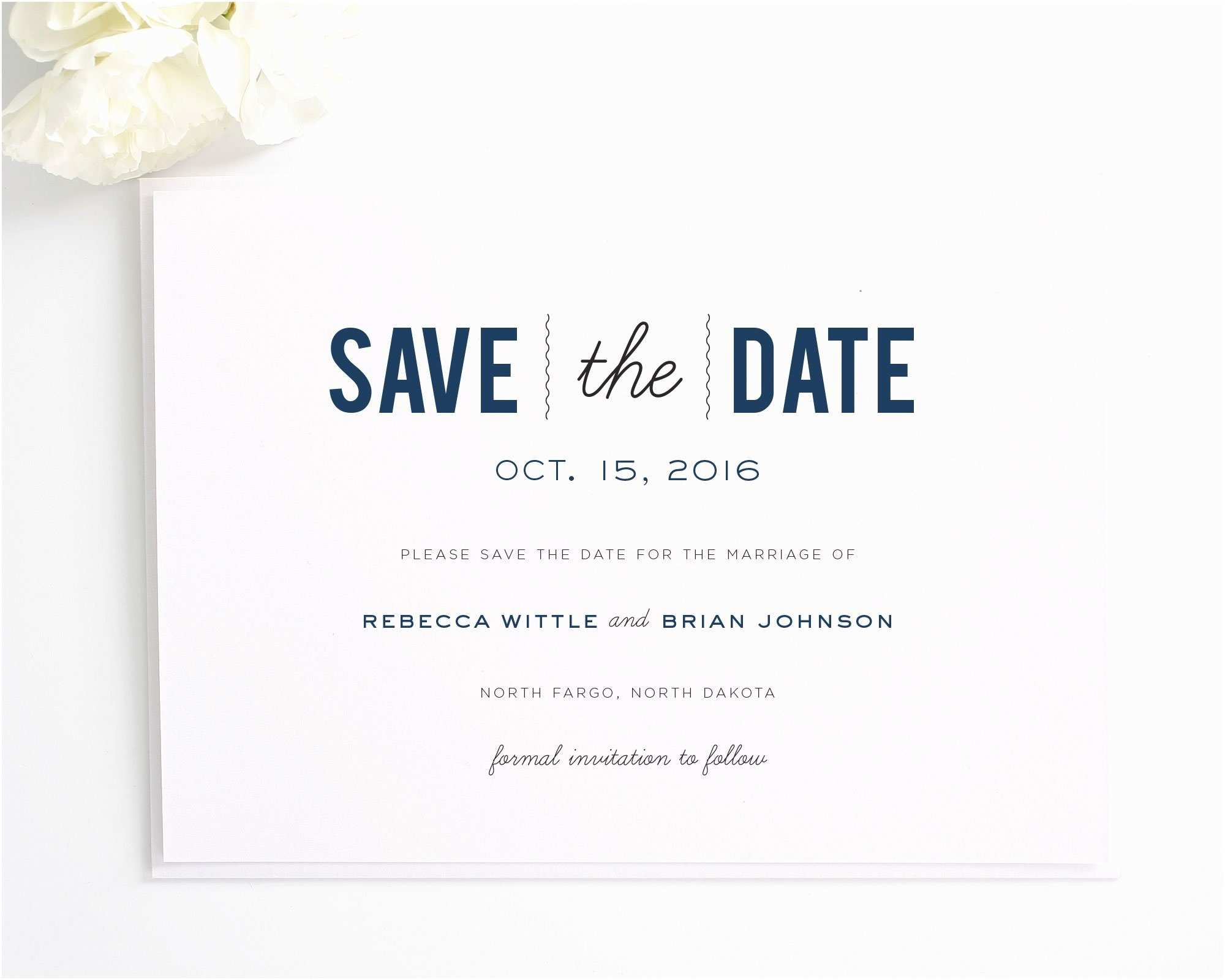 Difference Between Save the Date and Wedding Invitation Save the Date Invitations