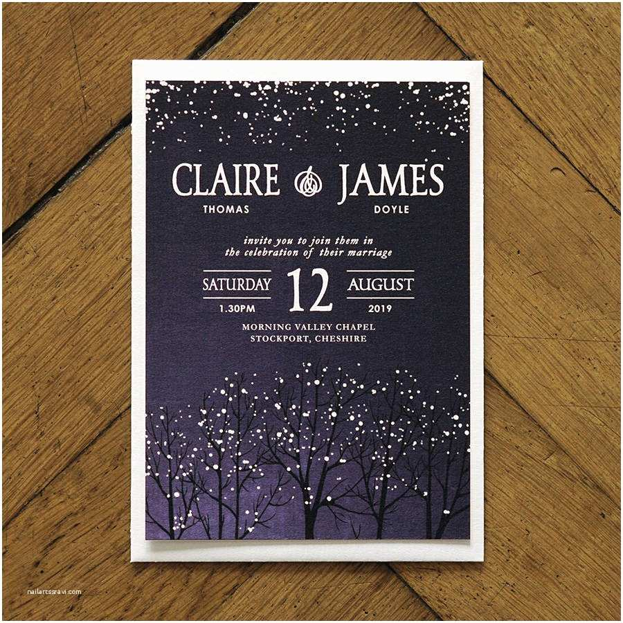 Difference Between Save the Date and Wedding Invitation Winter Snow Wedding Invitations and Save the Date by Feel
