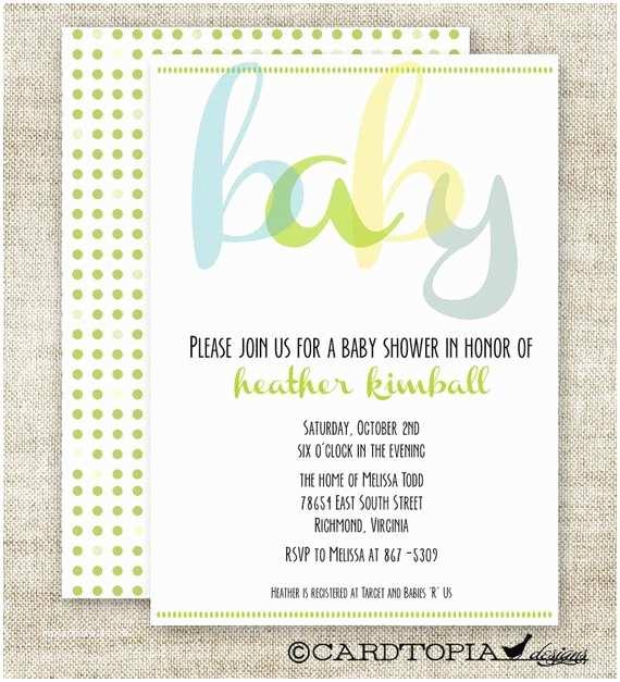 Digital Baby Shower Invitations Boy Baby Shower Invitations Digital Printable by