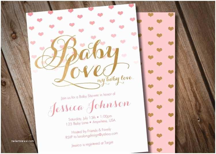 Digital Baby Shower Invitations Diy Digital Baby Love Baby Shower Invitation by