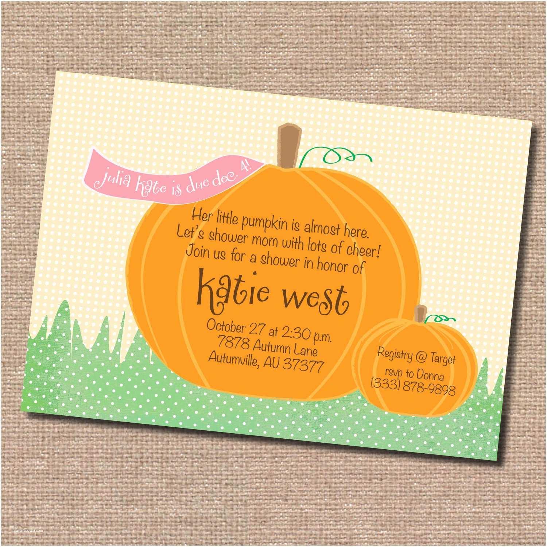 Digital Baby Shower Invitations Fall Pumpkin Baby Shower Invitation Digital by Dormineydesigns