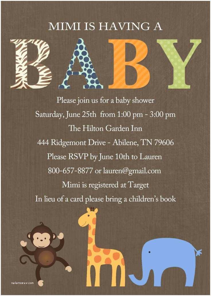 Digital Baby Shower Invitations Safari Baby Shower Invitation Digital Printable File