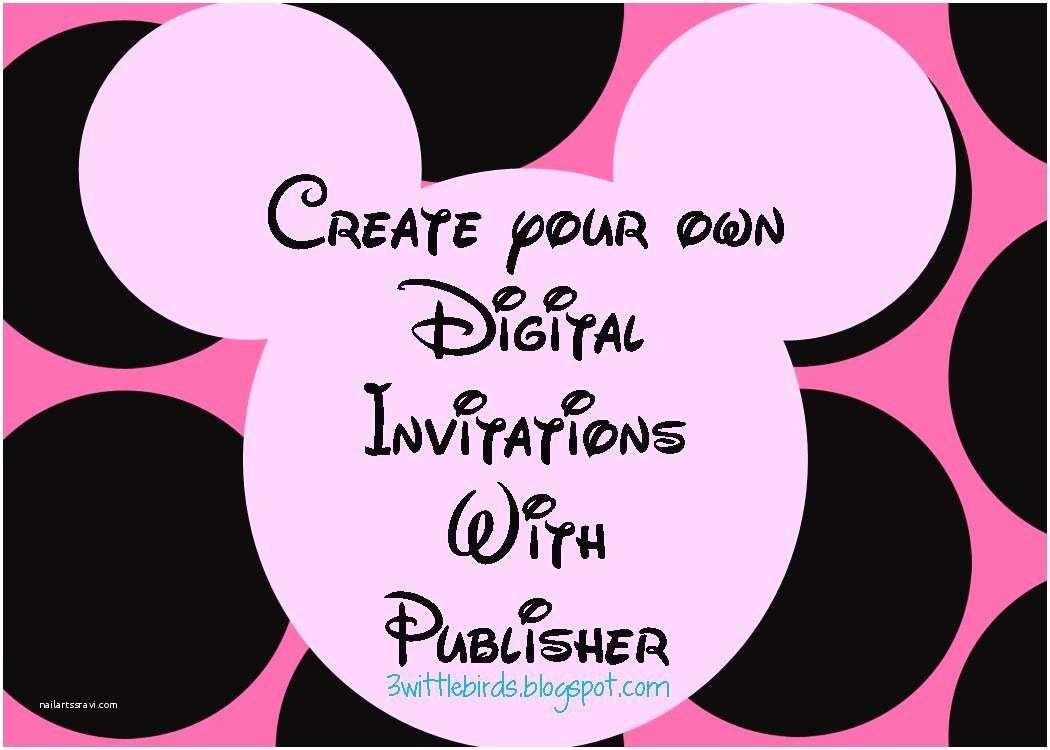 Digital Birthday Invitations 3 Wittle Birds Minnie Mouse Digital