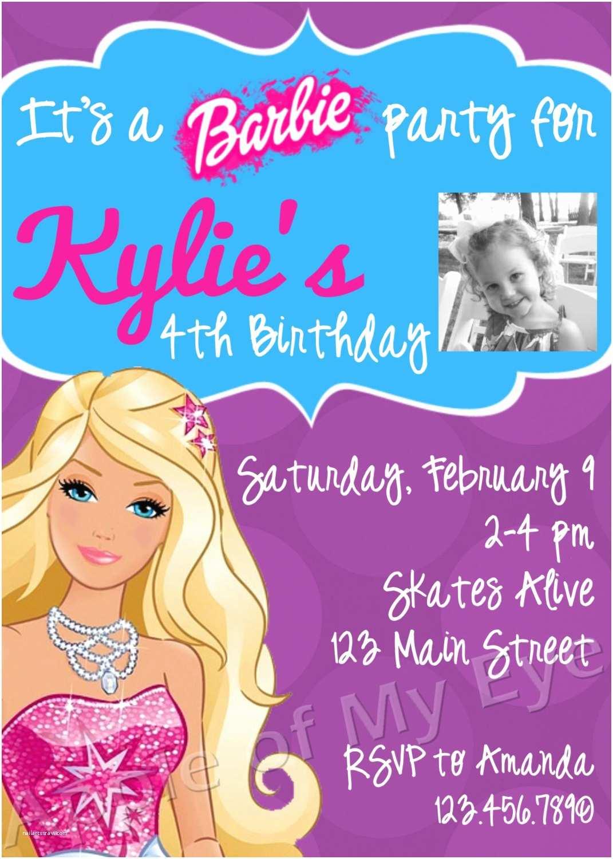 Digital Birthday Invitations Barbie Birthday Party Digital Invitation