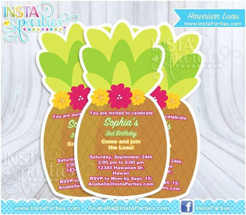 Digital Birthday Invitations Hawaiian Invitation To Print –