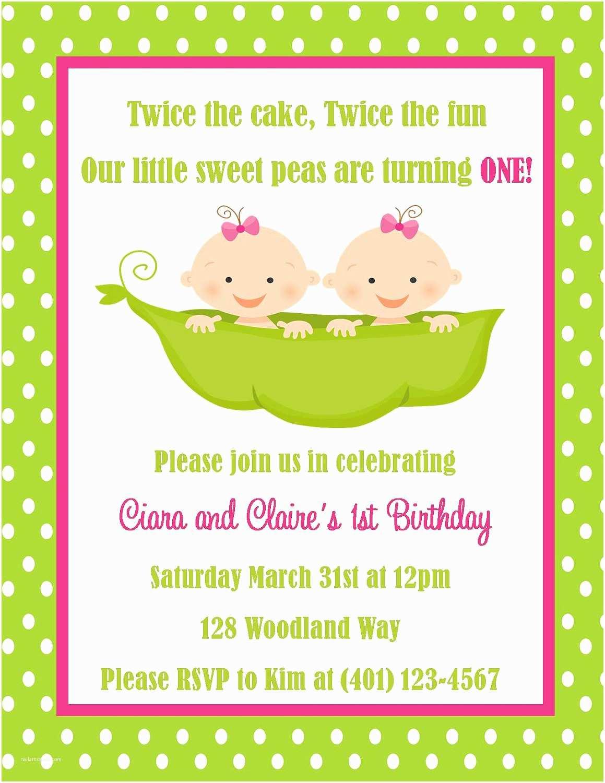 Digital Birthday Invitations Twins Birthday Invitation Digital