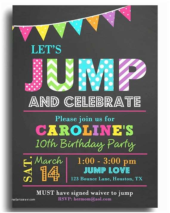 Digital Party Invitations Best 25 Trampoline Birthday Party Ideas On Pinterest