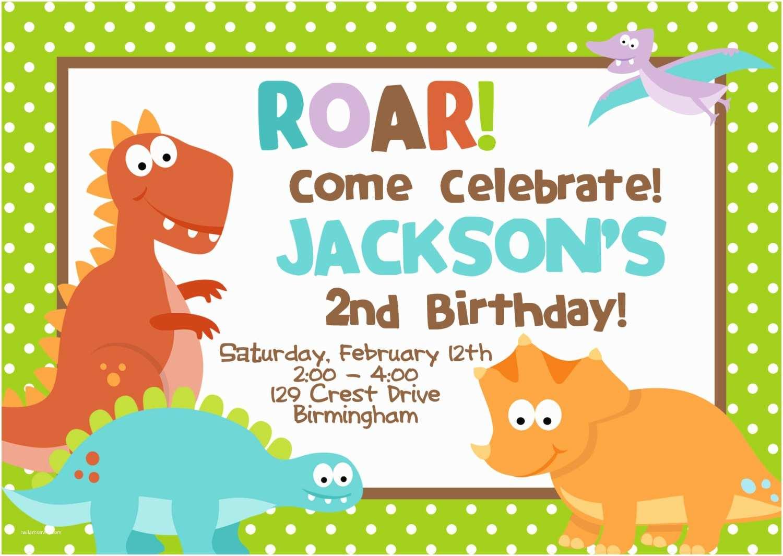 Digital Party Invitations Diy Digital File Dinosaur Birthday Party Invitation