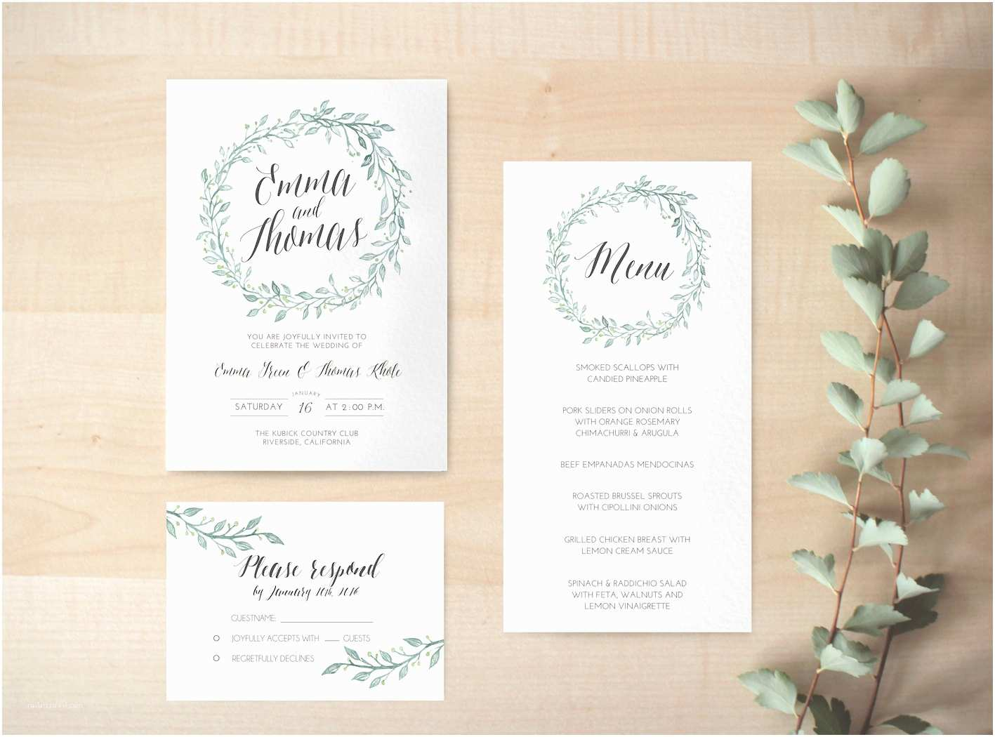 Digital Wedding Invitations Digital Wedding Invitation Printable Floral Invitation