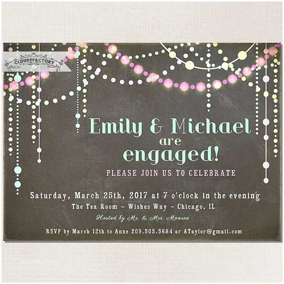 Digital Wedding Invitations Free Pastel Chalkboard Engagement Party Invitation Chalk Board