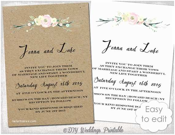 "Digital Wedding Invitations Free Printable Rustic Wedding Invitation Template ""rustic"