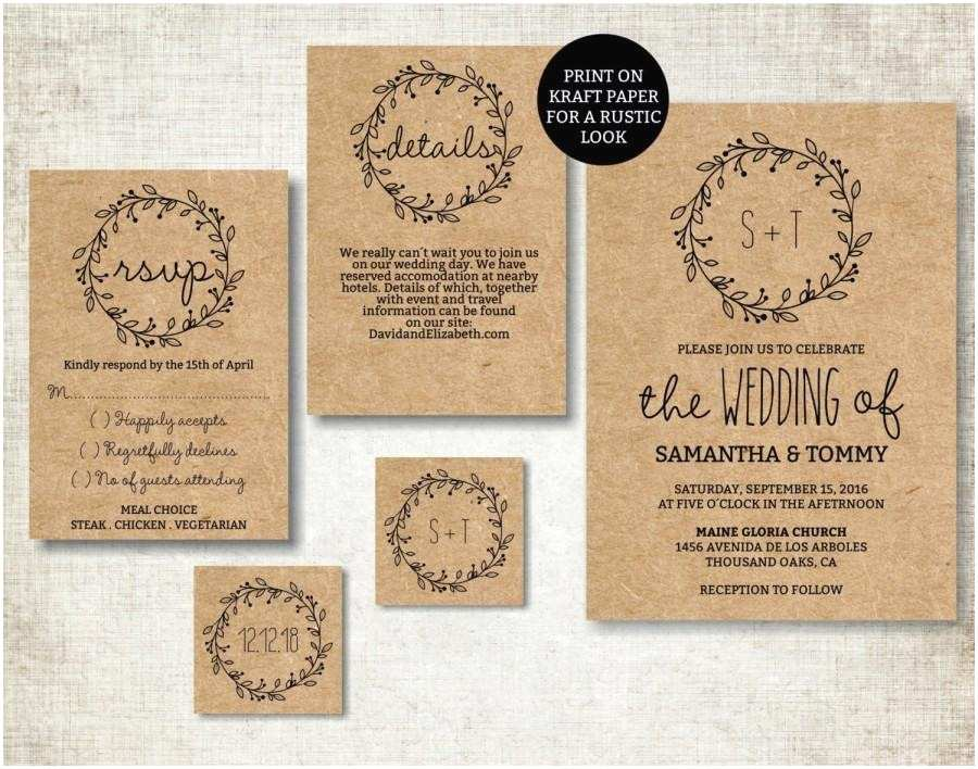 Digital Wedding Invitations Free Wedding Invitation Template Classic Wreath Wedding Invite