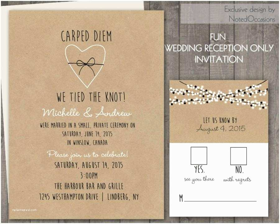Digital Wedding Invitations Wedding Reception Ly Invitations Kraft Paper Rustic