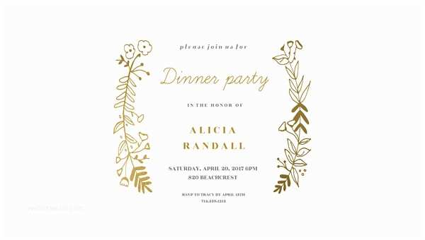 Dinner Party Invitation Template 53 Dinner Invitation Designs