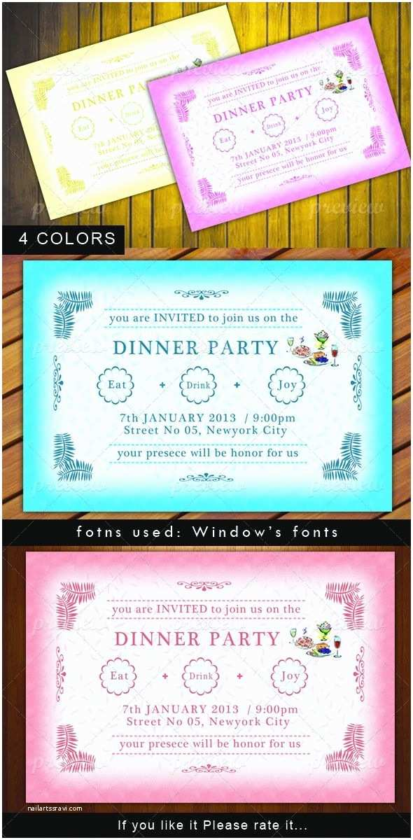 Dinner Party Invitation Template Best 25 Dinner Party Invitations Ideas On Pinterest