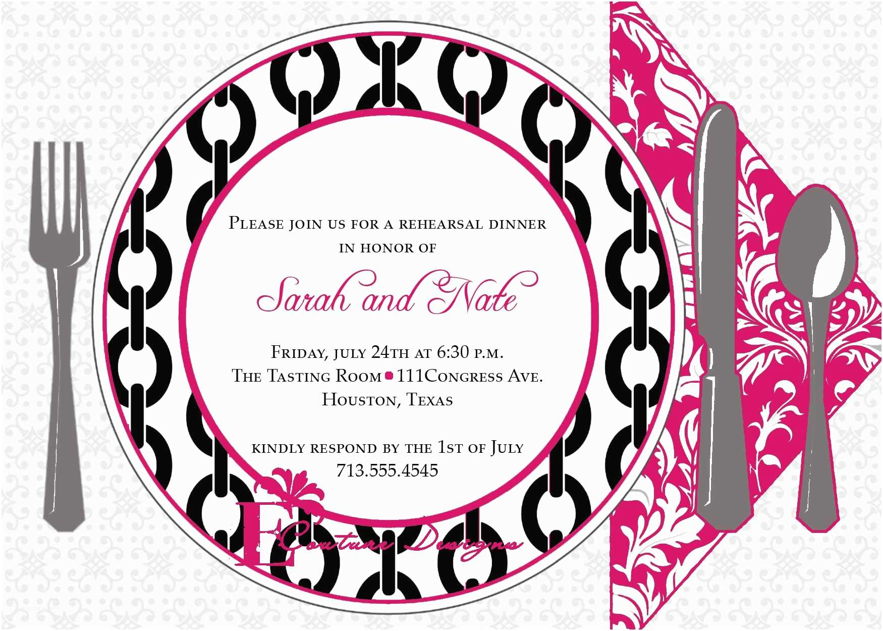 Dinner Party Invitation Template Dinner Invitation Template