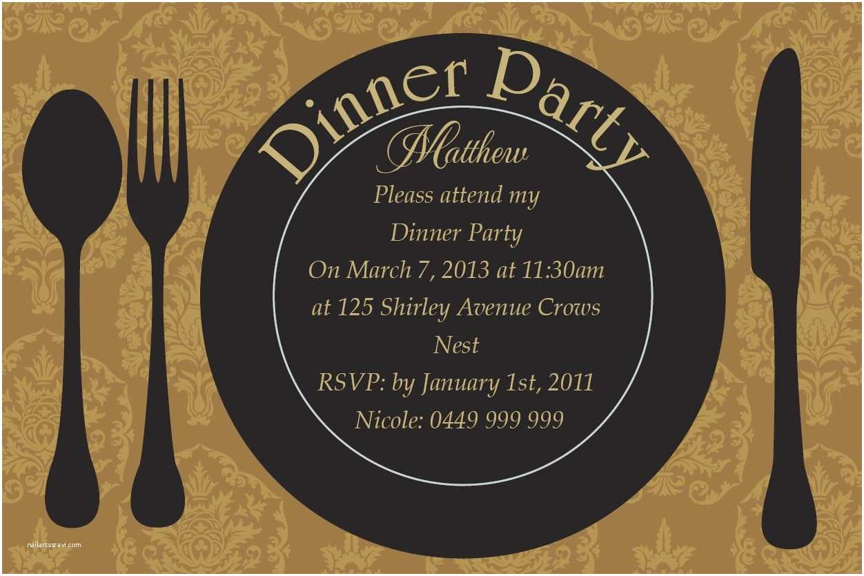 Dinner Party Invitation Template Dinner Party Invitation Card Design Collection for Your