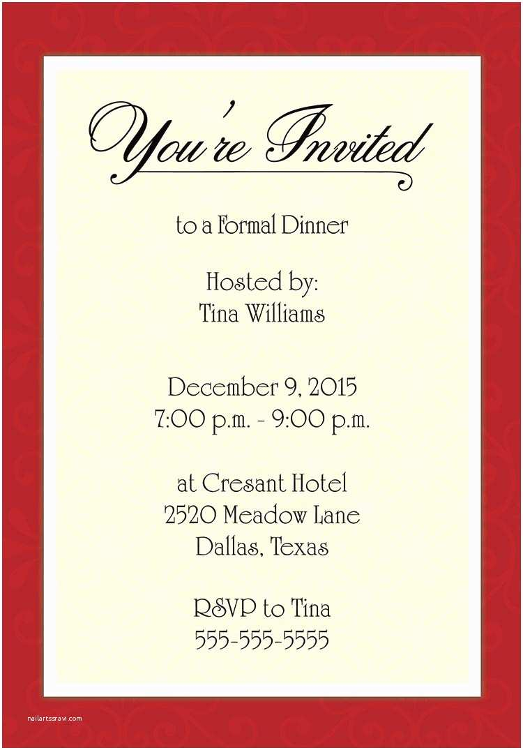 Dinner Party Invitation Template Dinner Party Invitation Template