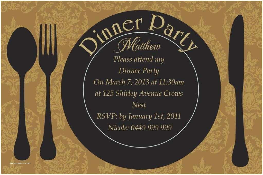 Dinner Party Invitation Template Dinner Party Invitation Template Sansalvaje